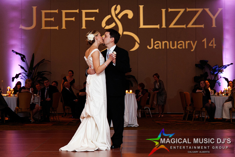 Newlyweds First Dance (Gobo option available on wall)
