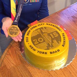 Gold medal cake