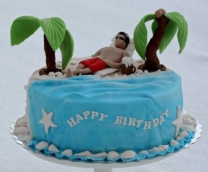 Vacation theme cake