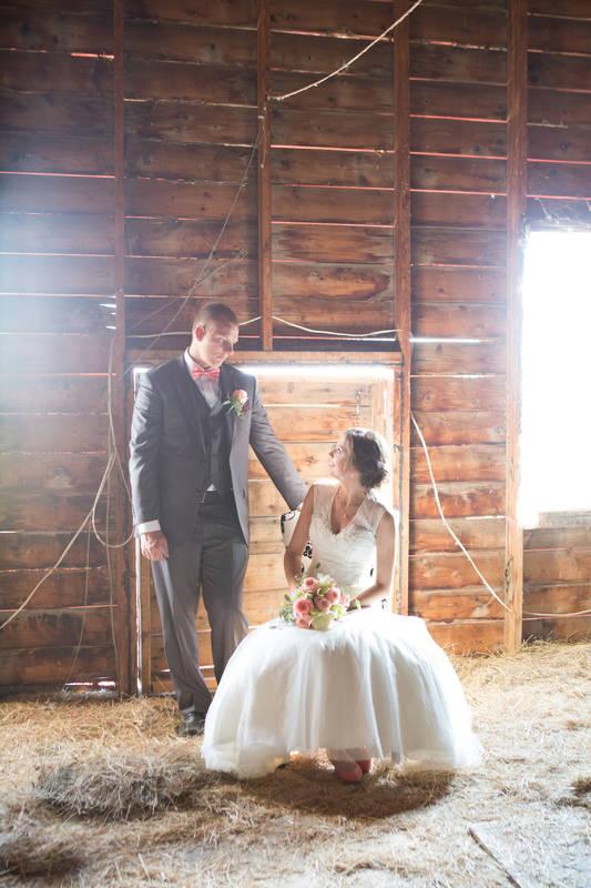 Bride and groom romantic lighting