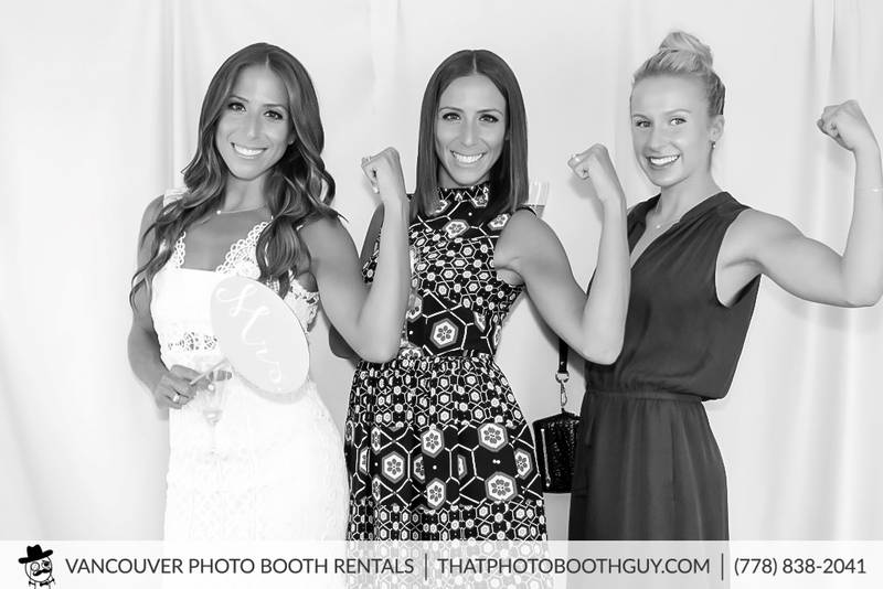 bridal shower photobooth in vancouver