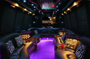 KK Luxury Limo Bus Interior