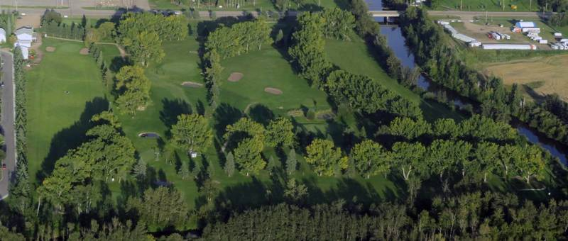 An aerial view of our course