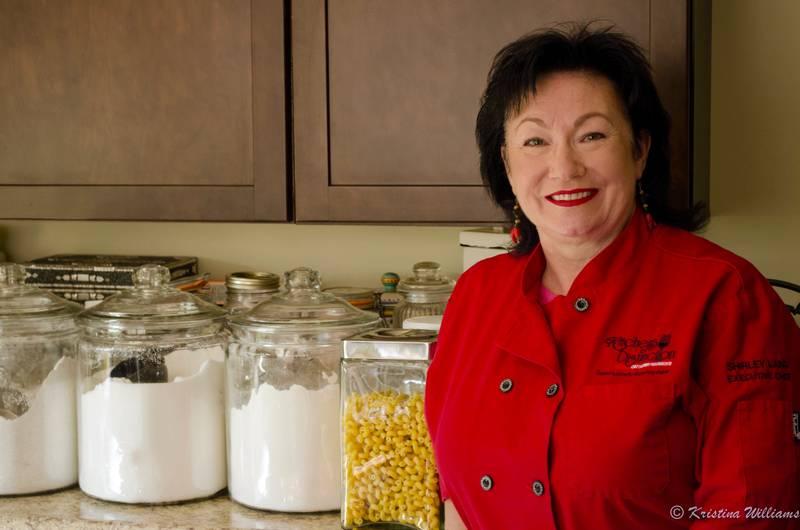 Chef Shirley in her kitchen